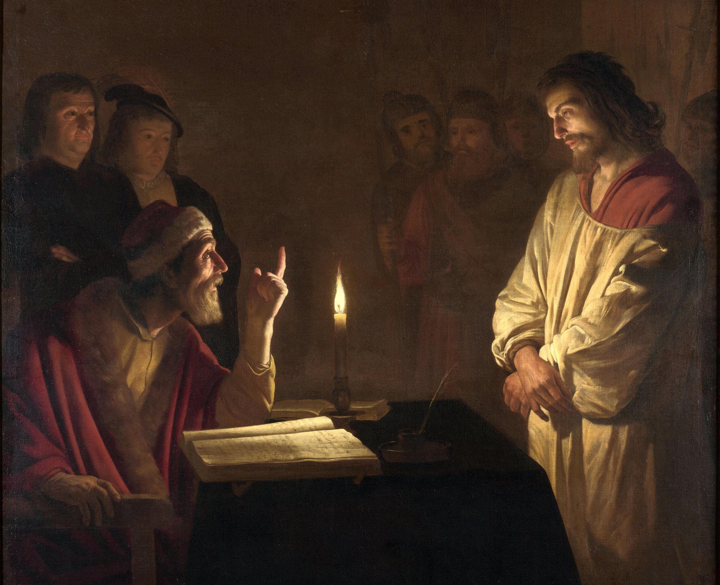 Gerard van Honthorst Christ before the High Priest