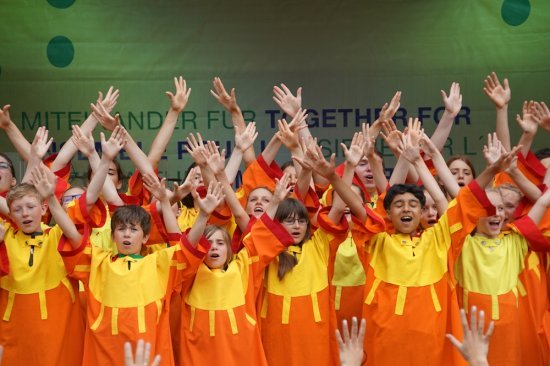 Munich. Ensemble Europe. enfants